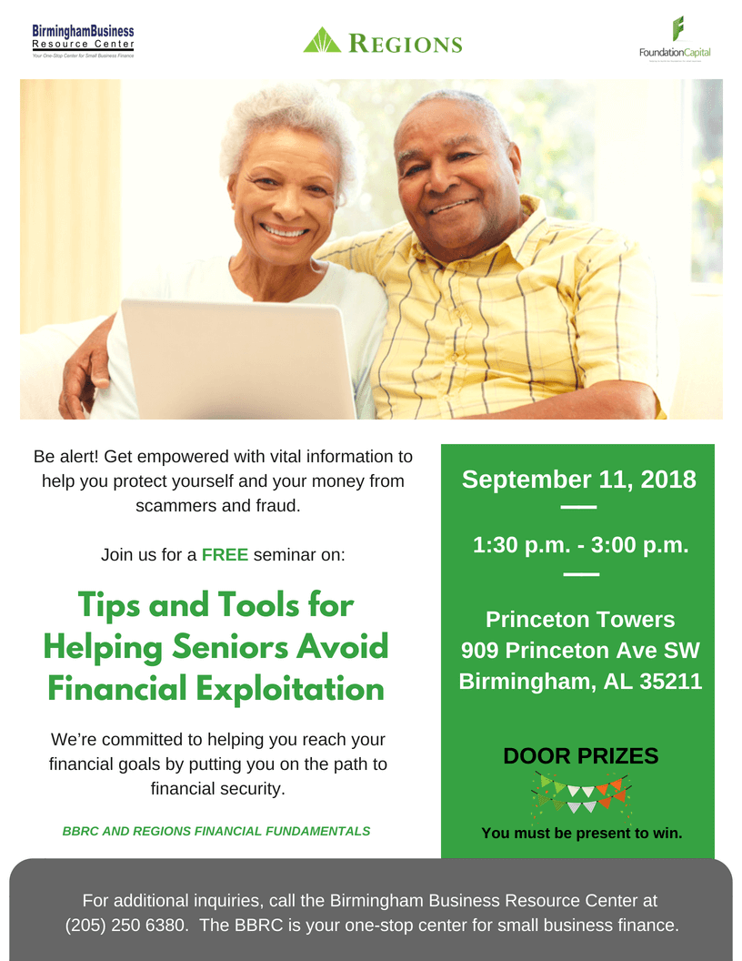 flyer for Tips and Tools for Helping Seniors Avoid Financial Exploitation