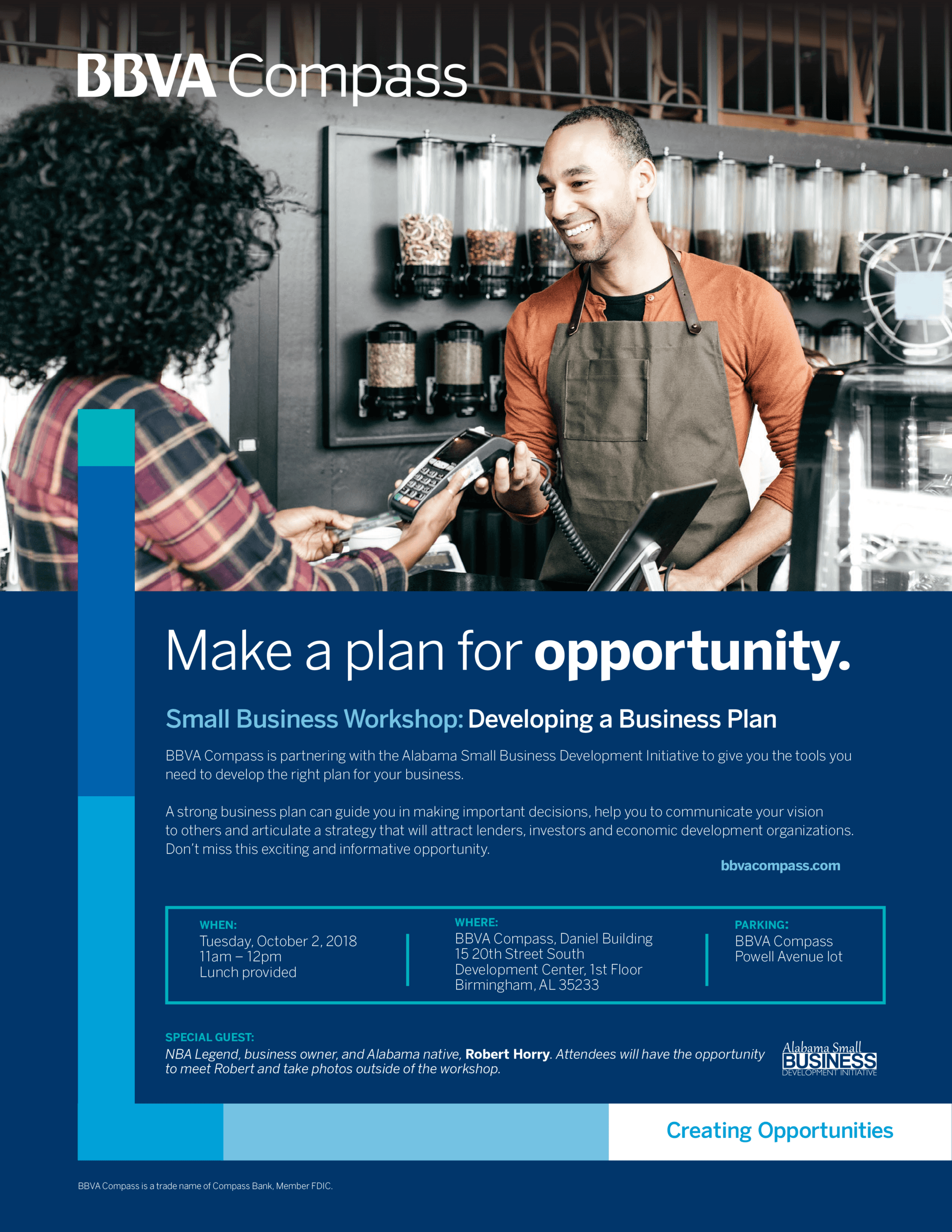 flyer for Developing a Business Plan