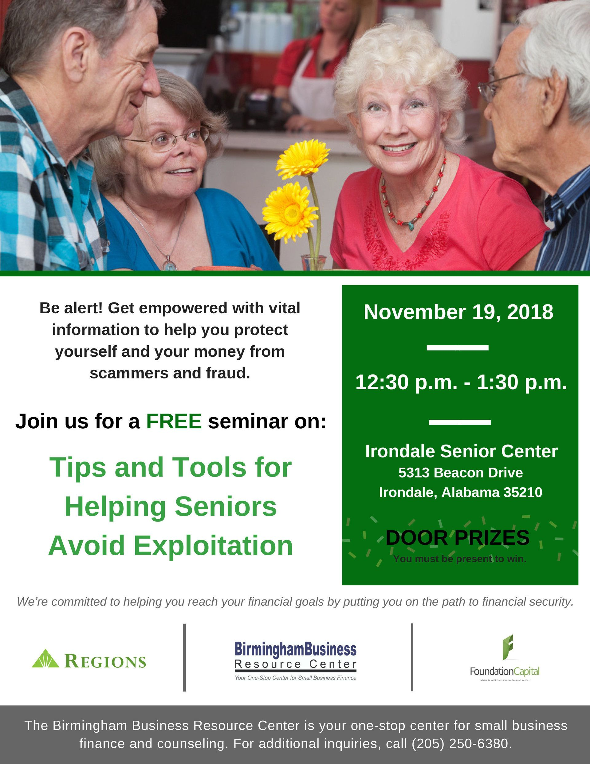 flyer for Tips and Tools For Helping Senior Avoid Exploitation