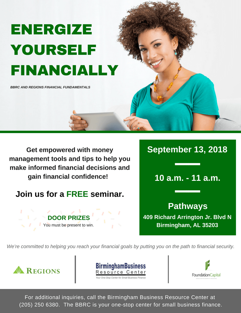 flyer for Energize Yourself Financially