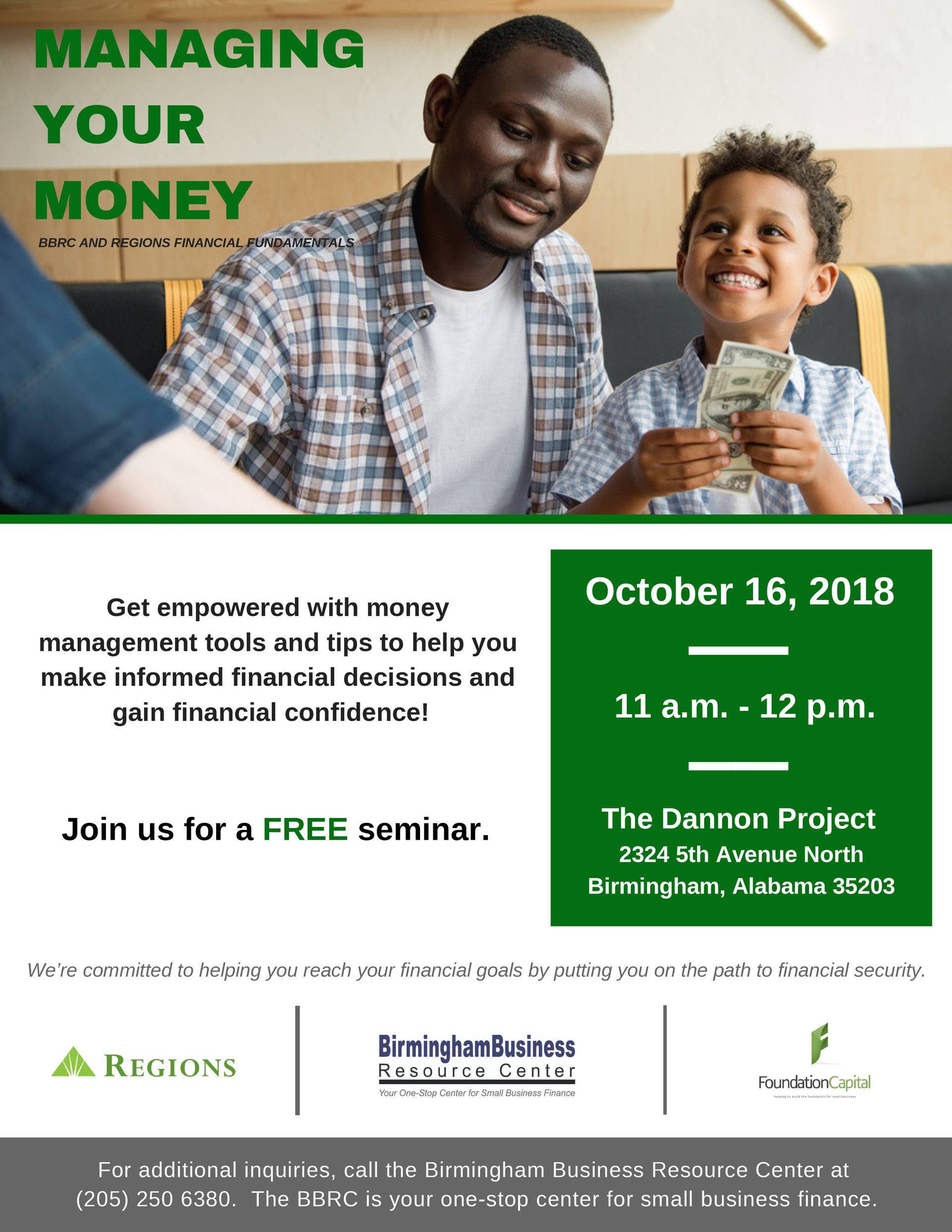 flyer for Managing Your Money