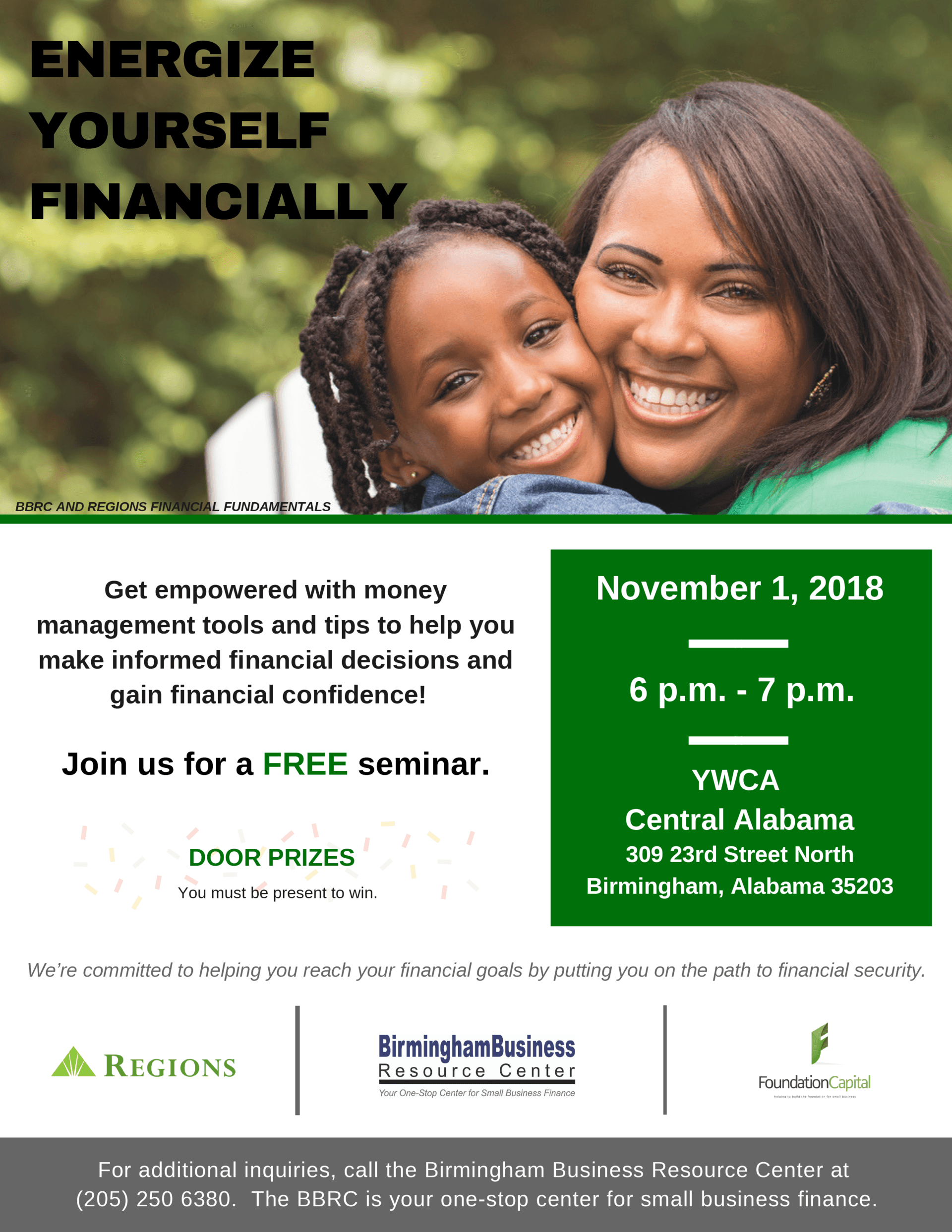 flyer for Regions seminar Energize Yourself Financially